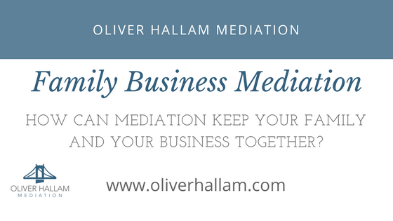 How can mediation keep your family and your business together?